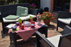 Śniadanie W ogródzie Zdjęcie Royalty Free