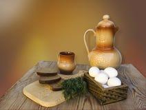 Śniadanie w wiosce Fotografia Stock