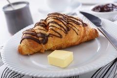Śniadanie z croissant Zdjęcie Stock