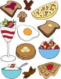 Śniadaniowa kolekcja ilustracja wektor