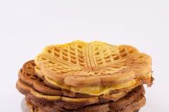 Śniadaniowi gofry Zdjęcie Royalty Free