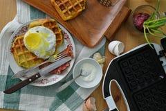 Śniadaniowi gofry Obraz Stock