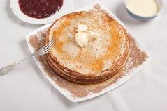 śniadaniowy blin Obrazy Royalty Free