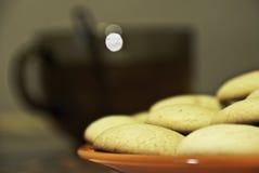 śniadaniowy ciastek czerepu blinów stos Fotografia Stock