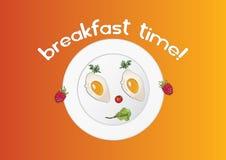 Śniadaniowy czas Royalty Ilustracja