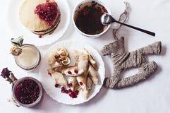 Śniadaniowy obiadowy karmowy cukierki Zdjęcia Stock