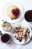 Śniadaniowy obiadowy karmowy cukierki Zdjęcia Royalty Free