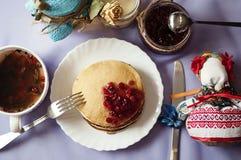Śniadaniowy obiadowy karmowy cukierki Obrazy Stock