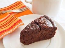 śniadaniowy tortowy czekoladowy plasterek Obraz Stock