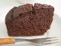 śniadaniowy tortowy czekoladowy plasterek Zdjęcie Stock