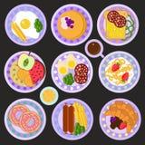 Śniadaniowy wektoru set Fotografia Stock