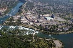 Niagara from the air Stock Images