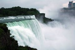 Niagara - American Falls. The strong rapids of the American Falls. American Falls is one of the great Niagara Falls royalty free stock photos