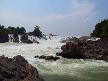 Niagara of Asia. KhonPaPeng waterfall in Laos Royalty Free Stock Photos