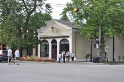 Niagara-auf-d-See, am 25. Juni: Niagara-Apothekergebäude vom Niagara-auf-d-See in Ontario-Provinz Stockfotografie