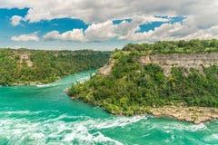 Niagara bubbelpool av Niagara River, Ontario, Kanada arkivfoto
