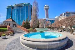 Niagara city downtown near scenic Niagara waterfalls waterfalls royalty free stock images