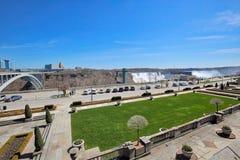 Niagara city downtown near scenic Niagara waterfalls waterfalls royalty free stock image
