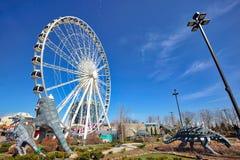 Niagara city entertainment zone near waterfalls stock photos