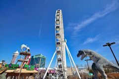 Niagara city entertainment zone near waterfalls stock photography