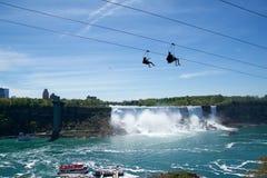 NIAGARA DALINGEN, ONTARIO, CANADA - MAG 20STE 2018: De mening van de Amerikaanse Dalingen is second-largest van de drie watervall royalty-vrije stock foto