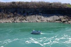 The Niagara fall and boat Royalty Free Stock Photos