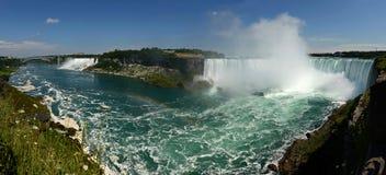 Niagara-Fall-panoramische Ansicht stockfotos