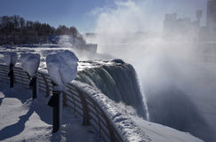 Niagara-Fall-Winter übersehen stockbild