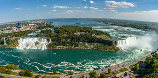 Niagara Fallen-Panorama Stockbilder