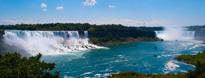 Niagara falls. A panoramic picture of the Niagara falls in Canada royalty free stock photos