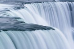 Niagara Falls is the largest transcountry waterfalls in the world stock images
