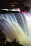 Niagara Falls. Waterfall colorful night scene royalty free stock photos