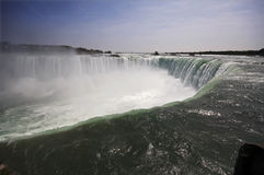 Niagara falls. View of the Niagara falls from the Canadian side Stock Photography