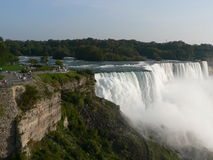 Niagara Falls. View from the American side Royalty Free Stock Photo