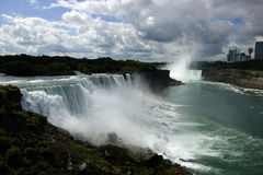 Niagara Falls. Landscape in daylight with overcast sky royalty free stock photography