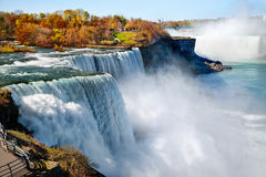 Niagara falls. American side of Niagara Falls stock images