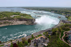 Niagara Falls. The view of the Horseshoe Falls. Niagara Falls, Ontario, Canada Royalty Free Stock Photography