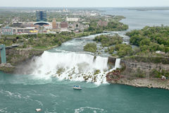 Niagara Falls. The view of the Falls, Niagara Falls, Ontario, Canada Royalty Free Stock Photos