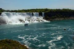 Niagara Falls. The vie of American Falls. Niagara Falls, Ontario, Canada royalty free stock image