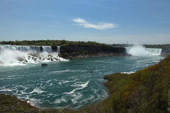 Niagara Falls. The view of the American and Horseshoe Falls in May. Niagara Falls, Ontario, Canada Stock Images