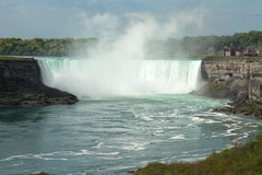 Niagara Falls. The vie of the Horseshoe Falls. Niagara Falls, Ontario, Canada Royalty Free Stock Photography