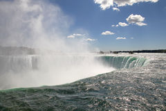 Niagara Falls. The view of the horse shoe waterfall. Niagara Falls, Ontario Stock Photo