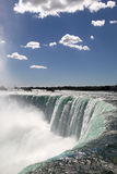 Niagara Falls. The view of the waterfall on the blue sky background. Niagara Falls, Ontario Royalty Free Stock Image