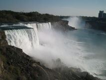 Niagara Falls. The three falls from US and Canada sides Stock Images