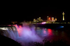 Niagara Falls. Image of Niagara Falls taken from American side view of Canada stock images