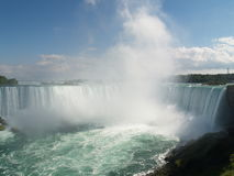 The Niagara Falls. Nice view on the Niagara Falls - Horse shoe falls Royalty Free Stock Images