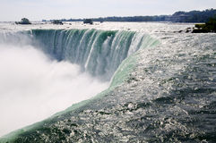 Niagara Falls. Close-up picture of the Canadian part of Niagara falls Royalty Free Stock Image