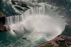 Niagara Falls. Aerial photo of Niagara Falls Canada showing Maid of the Mist stock photos