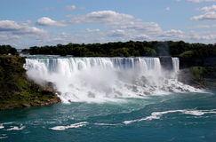 Niagara Falls. The American Niagara Falls, as viewed from Canada stock image