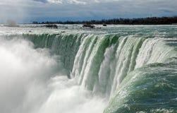 Niagara Falls ad alba Immagini Stock
